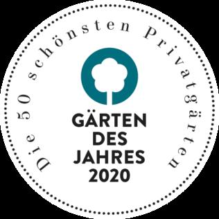 Label Auszeichnung Gärten des Jahres 2020