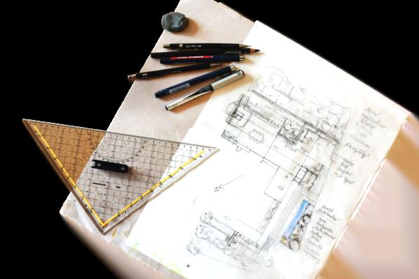 Gartenplanung Entwurf Skizze