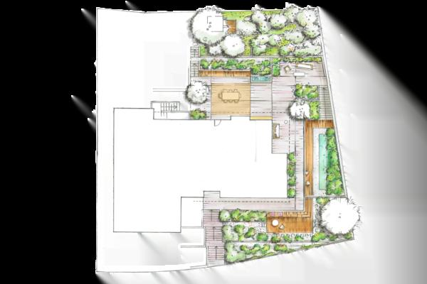 Gartenplanung Grundriss Visualisierung
