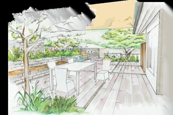 Gartenplanung Visualisierung