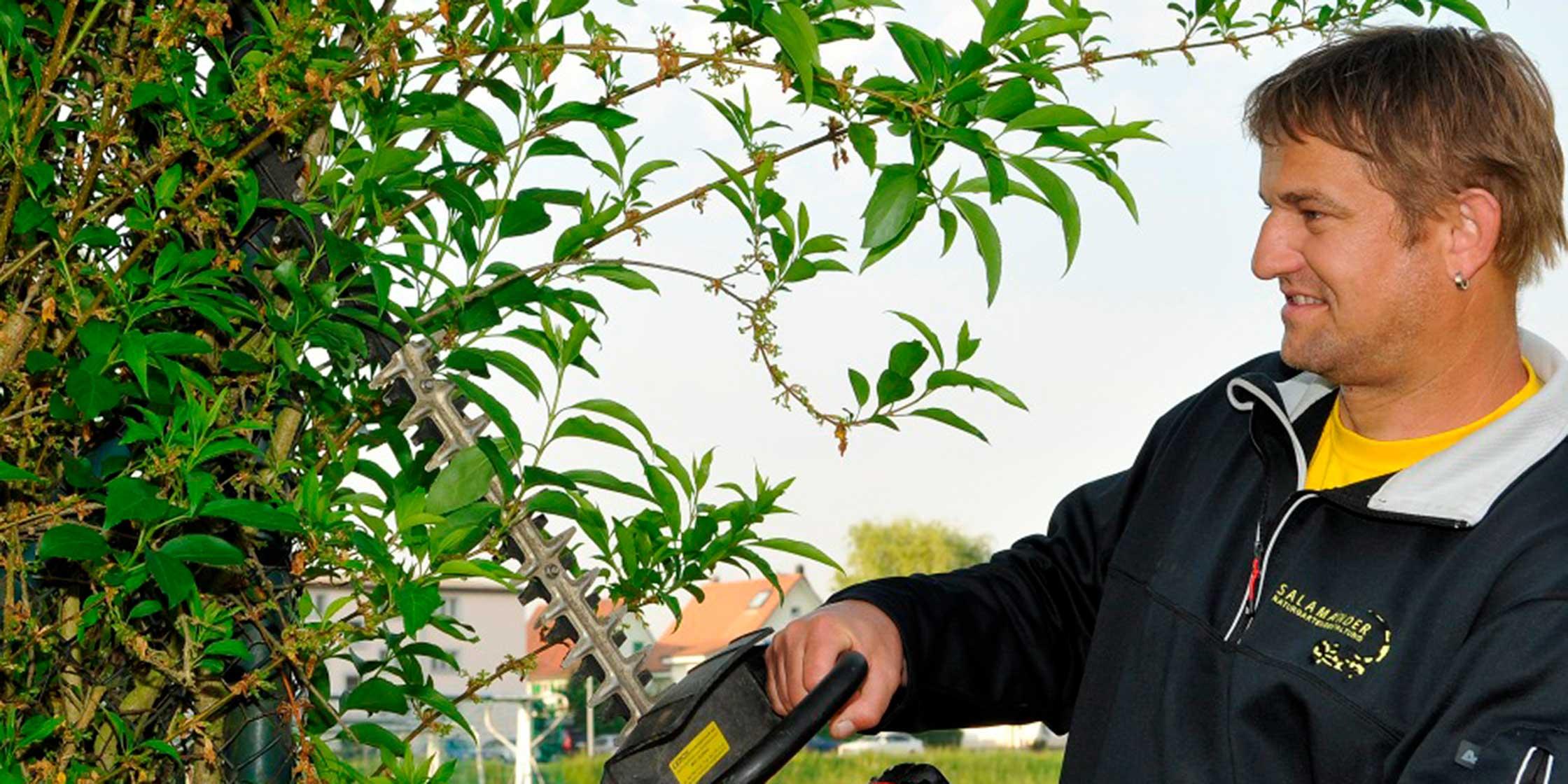 """""""Die Gärtner übernehmen ihre Aufgaben selbstständig. Das schätze ich und wir ergänzen uns gut."""""""