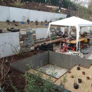 Hinterhofgarten Bauphase