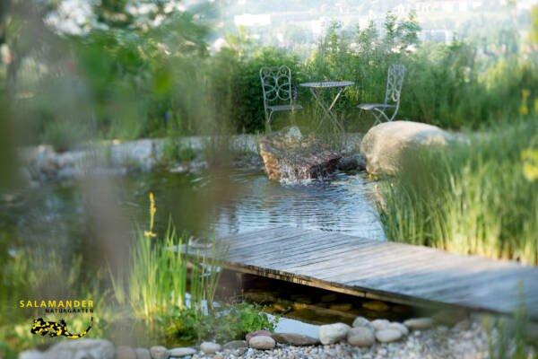 Apothekergarten Holzsteg Schwimmteich Naturgärten für Qualitätsbewusste Naturgarten