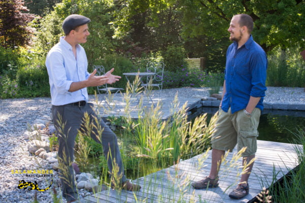 Michael Gut & Caspar Zimmermann Gründer Salamander Naturgarten AG Neue Geschäftsleitung